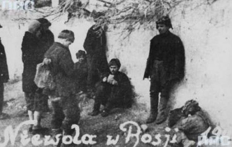 fotografia zniewoli Polaków zesłanych doRosji sowieckiej w1940 roku