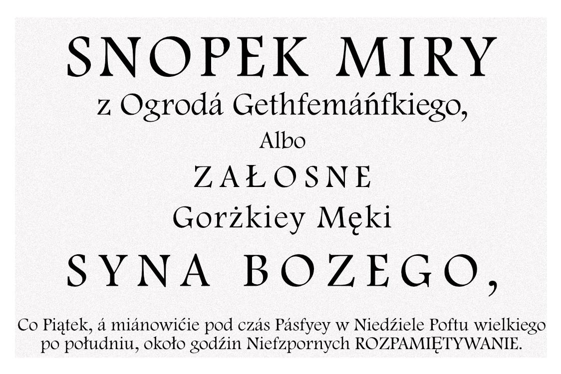 Gorzkie żale - oryginalny tytuł whistorycznym wydaniu modlitwy.